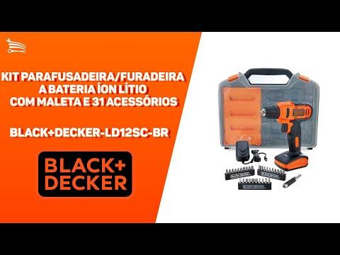 Kit Parafusadeira/Furadeira a Bateria 12V Li-Ion 3/8 Pol.  com Carregador Bivolt Maleta e Acessórios - Video