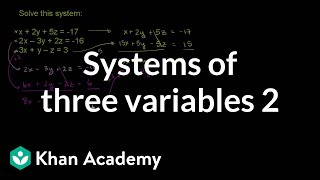 Systems of Three Variables 2