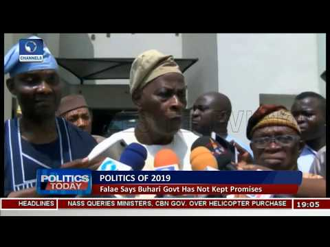 2019 Elections: Falae Asks Nigerians To Vote Out APC |Politics Today|
