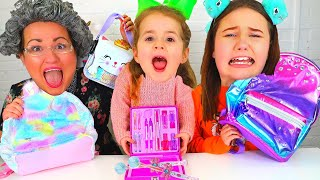 Ruby & Bonnie Play the School Supplies Switch Up Challenge
