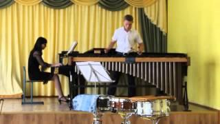 "Н. Розауро ""Концерт для маримбы и фортепиано"" исп. Каретко Евгений. 2014г."