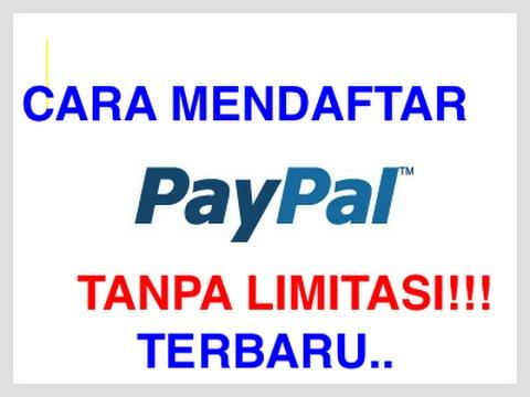 Video Cara Mendaftar Paypal + VCC Terbaru TANPA LIMITASI!!