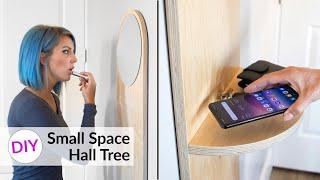 DIY Small Space MODERN Hall Tree