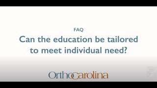 A Tailored Education