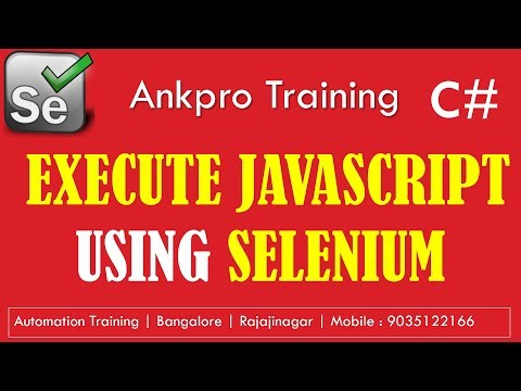 Selenium with C# 51 - IJavaScriptExecutor interface | How to execute JavaScript from Selenium