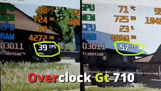 How To Overclock GT 710 | FPS Boost