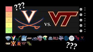 Virginia Universities Tier List