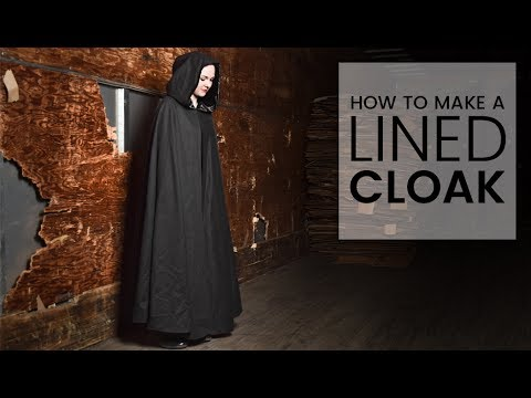 How to Make a Hooded Cloak with a Lining