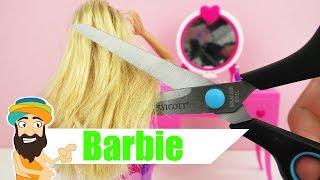Barbies KRASSE Veränderung - Barbie beim Friseur mit Färben und Schneiden? - cooler neuer Look