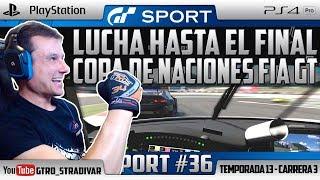 GT SPORT - COPA DE NACIONES FIA GT | LUCHA HASTA EL FINAL | GTro_stradivar Carrera Online