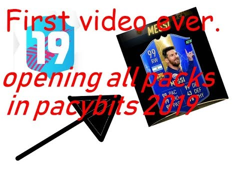 Pacybits opening all packs (toty messi 99) first video.