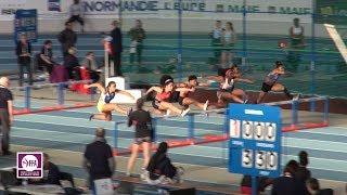 Val de Reuil 2018 : Finale 60 m haies Cadettes (Aelys Gente en 8''42)