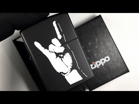 218 Зажигалка Zippo Rock On, Black Matte