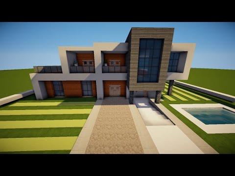 Minecraft Modernes Haus Freitag Hochhaus Braunweiß Bauen - Minecraft grobes haus bauen tutorial deutsch