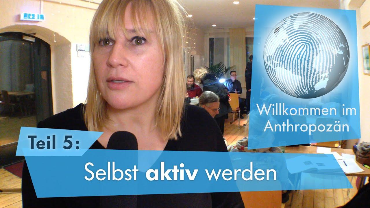 Standbild aus Erklärvideo: Frau im Interview + Grafik
