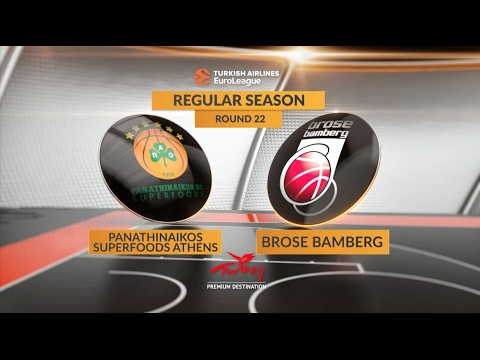 EuroLeague Highlights RS Round 22: Panathinaikos Superfoods Athens 81-72 Brose Bamberg