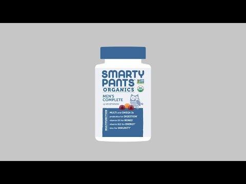 SmartyPants, Органическое средство для мужчин, 120вегетарианских жевательных таблеток