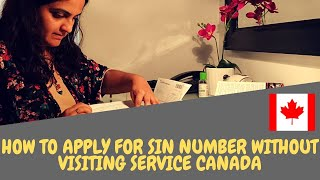 How to apply for SIN number online without visiting Service Canada l covid-19 crisis