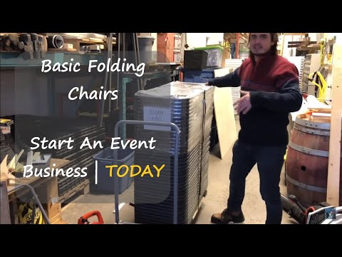 Basic Folding Chairs   Start An Event Business: Back To Basics