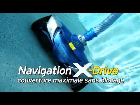 Robot piscine hydraulique Zodiac MX6 navigation X DRIVE - RobotPiscine.fr