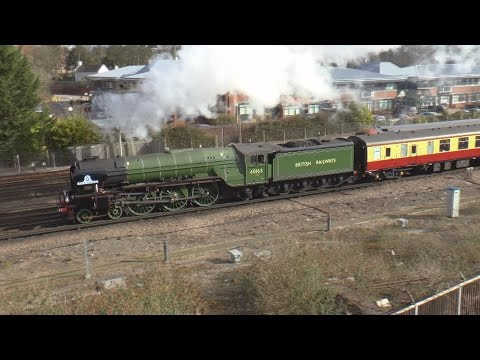 LNER 60163 'Tornado' on The Devon Belle at Basingstoke 2nd A…