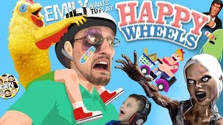 EMILY WANTS TO PLAY HAPPY WHEELS!  FGTeeV Fights a Chicken & Plays 8 Games