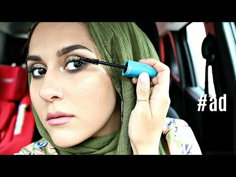 Date Night Look with MEGA MULTIPLIER MASCARA  – GRWM in the car!