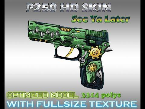CS:GO P250 ASIIMOV HD Skin for Counter-strike 1 6 - смотреть