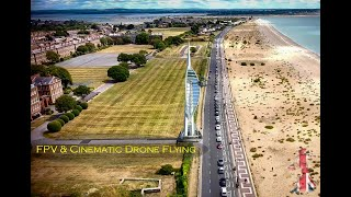 Portsmouth, Southsea, United Kingdom - Drone First Person View (FPV) and Cinematic Flight