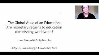 Presentation on: The Global Value of an Education: Are Income Returns to Education Declining Worldwide?
