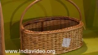 Varieties of baskets made of bamboo, Dilli Haat