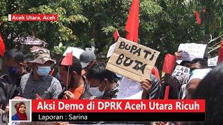 Demo di DPRK Aceh Utara Ricuh, Satu Peserta Aksi Diamankan