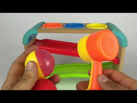Palline colorate con martello - Coloured balls - Video bambini giochi per bambini