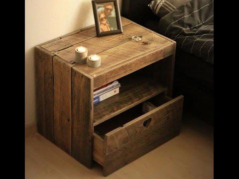 Nachttisch selber bauen. Möbel aus Europaletten. Diy nachttisch.
