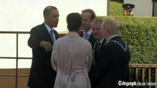 Barack Obama meets Irish cousin in Moneygall