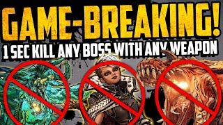 Borderlands 3: WTF GLITCH - 1 SEC KILL ANY BOSS WITH ANY WEAPON - GAME BREAKING GLITCH - MUST SEE