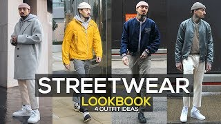 STREETWEAR LOOKBOOK 2019 | 4 OUTFIT IDEAS | MENS FASHION