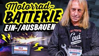 Motorradbatterie RICHTIG ein- und ausbauen   HOW TO
