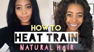 HOW TO HEAT TRAIN YOUR HAIR   Nija Sym