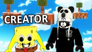 PLAYING WITH THE CREATOR OF ROBLOX SKYWARS!!