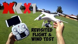 XK X1 MINI PHANTOM - Wind Test & Revisit