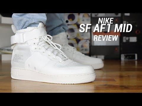 NIKE SF AF1 MID TRIPLE IVORY REVIEW