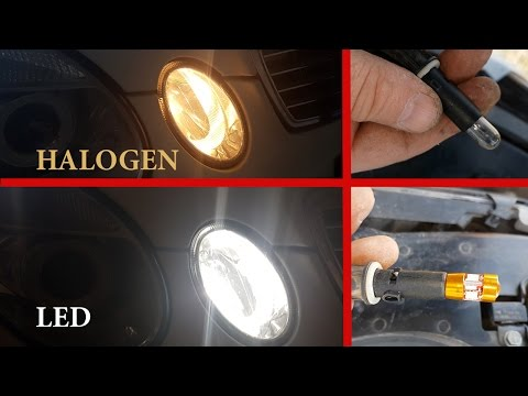 How to install LED W5W T10 Parking Lights on Mercedes W211, W219 / LED W5W From China Mercedes