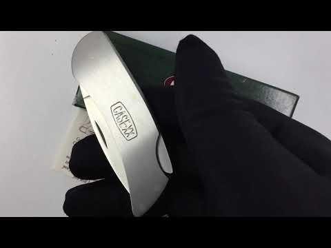 00158 Нож складной Medium Brushed Stainless Steel Executive Lockback CASE XX Logo