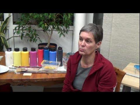 Acrylmalerei erste Schritte - Farben und Pinsel