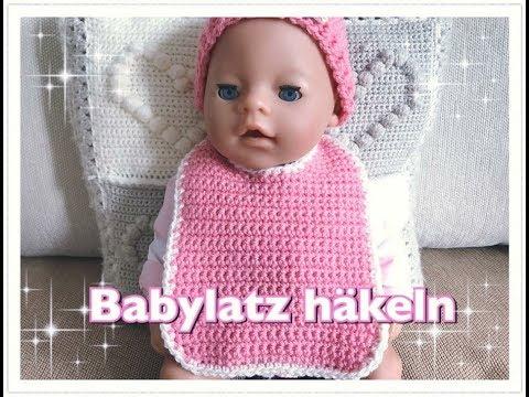 Babylatz häkeln / Latz häkeln / Lätzchen häkeln für Anfänger