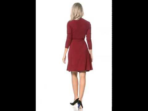 Kleid in Wickeloptik von Chiara Forthi, rot/Robe effet cache-coeur de Chiara Forthi, rouge