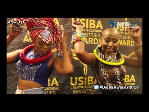 Unathi With Thembisile Ntaka Dancing Live On White Media Africa TV That Was Usiba Awards 2018