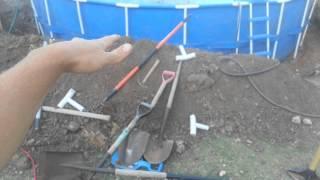 Install 24' ROUND INTEX METAL POLE FRAME SWIMMING POOL inground