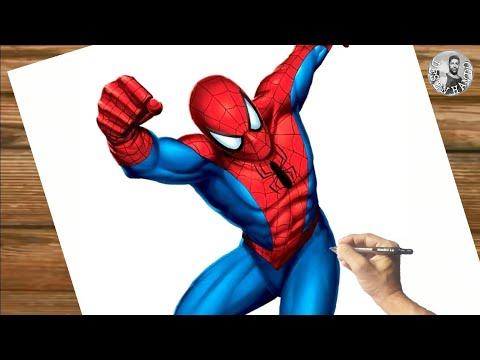 Como Desenhar HOMEM ARANHA Passo a Passo, Fcil, Rpido e Completo